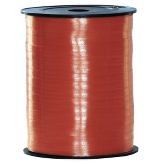 Polyband lint op rol rood (500mx5mm)