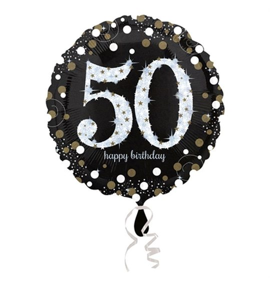 Foil Balloon Happy 50th Birthday