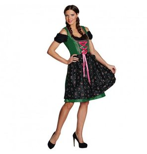 Dirndl ladies dress Oktoberfest green black