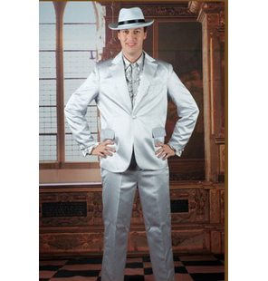 Disco costume Shiny  zilver