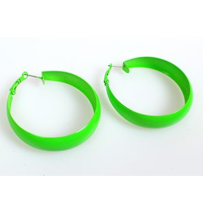 Disco oorring Flashy groen