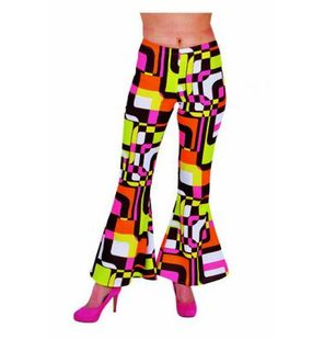 Disco pants with retro print