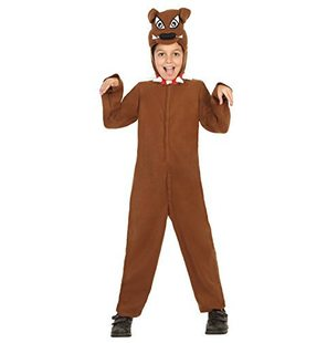Dog dress up costume Brown for kids