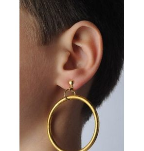 Earring large ring