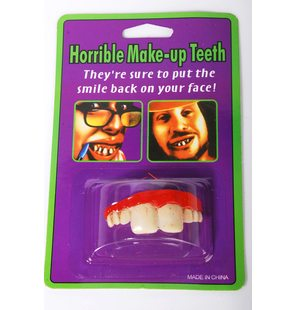 False teeth large front teeth