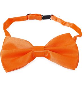 Fluo Orange Butterfly Bow Satin