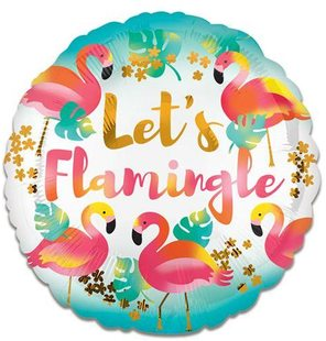 Folieballon 'Let's Flamingle' (43cm)