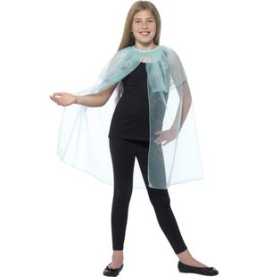 Frozen snowflake cape for children