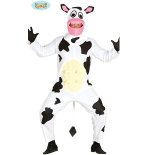 Funny cow costume with udder