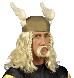 Gaulois Wig With Moustache
