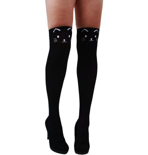 Genou collant chat/Cat Black