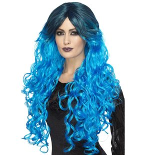 Glamour wig turquoise