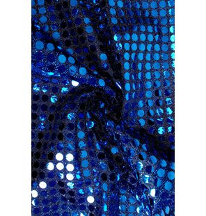 Glitter Fabric with large sequins 1.5M Blauw