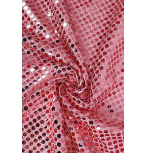 Glitter Fabric with large sequins 1.5M Licht rose