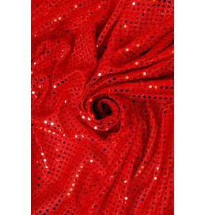 Glitter Fabric with large sequins 1.5M Rood