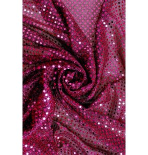 Glitter Fabric with small sequins 1.5M Fuchsia