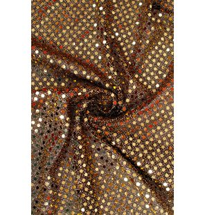 Glitter Fabric with small sequins 1.5M Goud