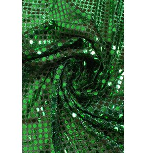 Glitter Fabric with small sequins 1.5M Groen