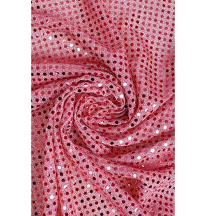 Glitter Fabric with small sequins 1.5M Licht rose