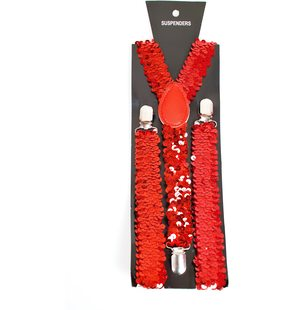 Glitter suspenders red