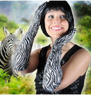 Gloves Zebra