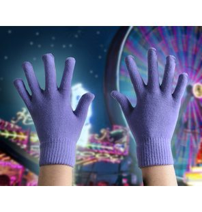 Gloves purple one size