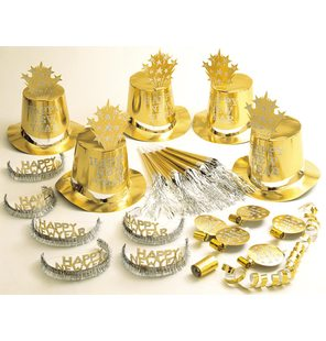 Gold Happy New Year Party Kit