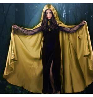Golden satin cape