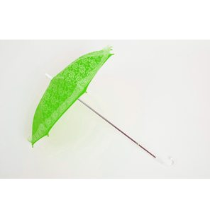 Green lace umbrella