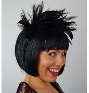 Hairpiece Plume Black