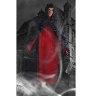 Halloween Cape Gray-Black 140 CM Adult