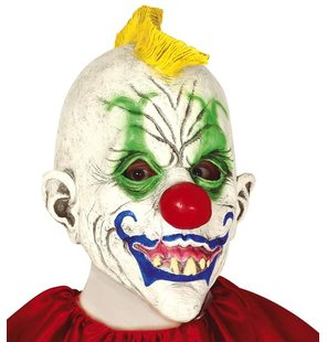 Halloween clown latex masker