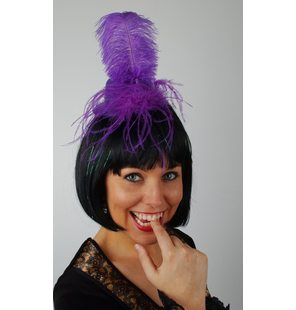 Hat with plume purple