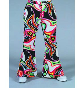 Hippie/disco pants with fantasy print