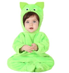 Kiokids Green Plush kitten costume for Baby
