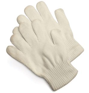 Knitted gloves beige
