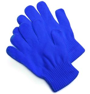 Knitted gloves blue