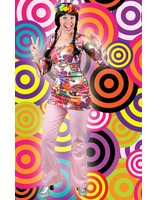 Hippie disco broek rose LASK0065