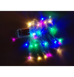 LED lichtjes 4 meter 40 lampjes multicolor