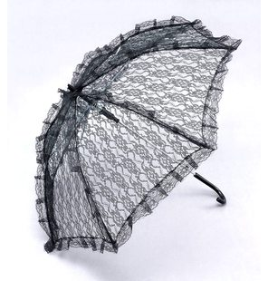 Lace umbrella black
