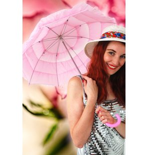 Light pink umbrella