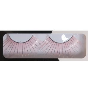 Long eyelashes pink with glitter