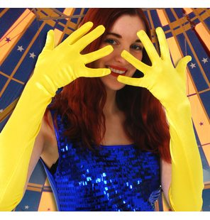 Long gloves yellow