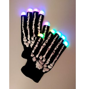 Luminous Led gloves skeleton