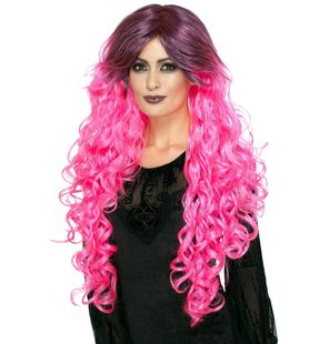 Luxury Gothic glamour Wig Pink