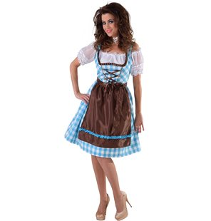 Luxury tirol dress with Brown apron