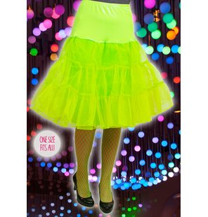 Luxury underskirt bright green