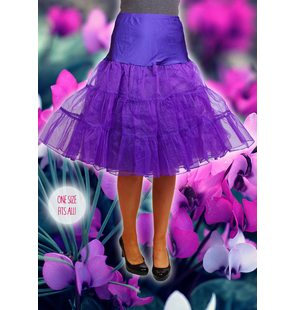 Luxury underskirt purple