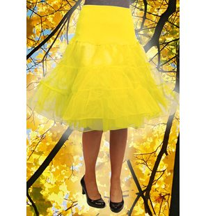 Luxury underskirt yellow