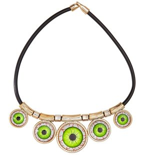 Necklace with eyes halloween